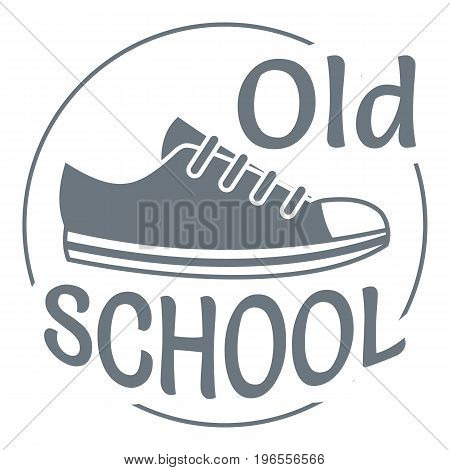 Old school logo. Simple illustration of old school vector logo for web design