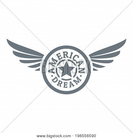 American dream logo. Simple illustration of american dream vector logo for web design