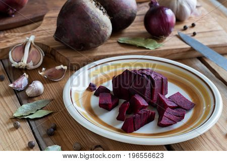 Sliced Red Beets - Ingredients For Beet Kvass