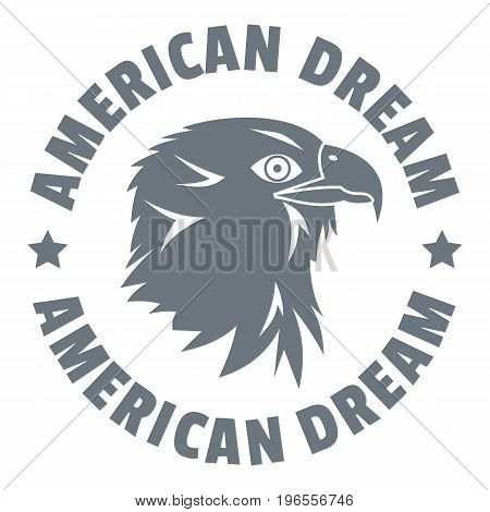 American dream eagle logo. Simple illustration of american dream eagle vector logo for web design