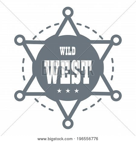 Wild west logo. Simple illustration of wild west vector logo for web design