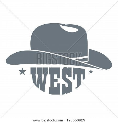 Wild west cowboy hat logo. Simple illustration of wild west cowboy hat vector logo for web design