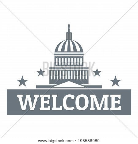 Welcome to USA logo. Simple illustration of welcome to USA vector logo for web design