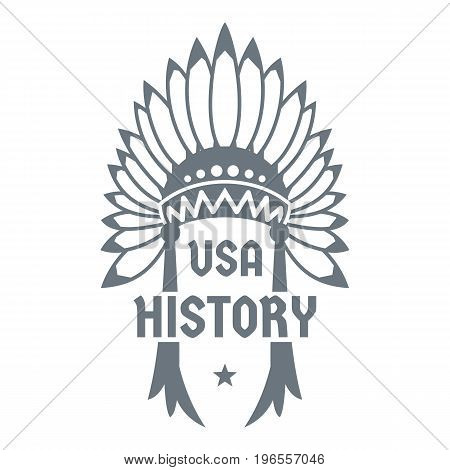USA history logo. Simple illustration of USA history vector logo for web design