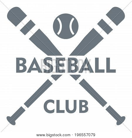 Baseball club logo. Simple illustration of baseball club vector logo for web design