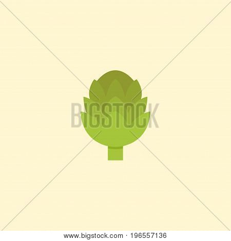 Flat Icon Artichoke Element. Vector Illustration Of Flat Icon Herbaceous Plant Isolated On Clean Background
