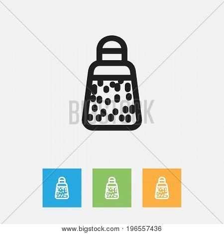 Vector Illustration Of Food Symbol On Paprika Outline