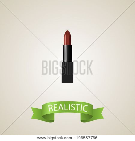 Realistic Lipstick Element. Vector Illustration Of Realistic Pomade Isolated On Clean Background