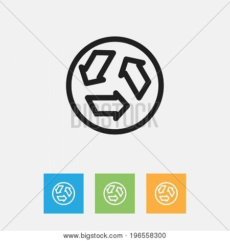 Vector Illustration Of Cleaning Symbol On Garbage Outline