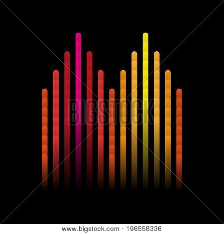 Illustration of colorful musical bar showing volume. Colorful music equalizer sound waves. Vector illustration, Graphic Design Editable For Your Design.