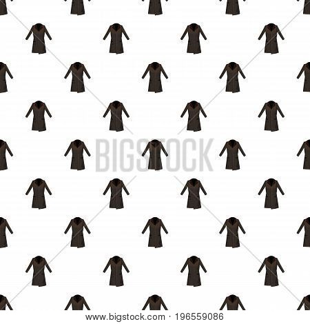 Brown winter coat pattern seamless repeat in cartoon style vector illustration