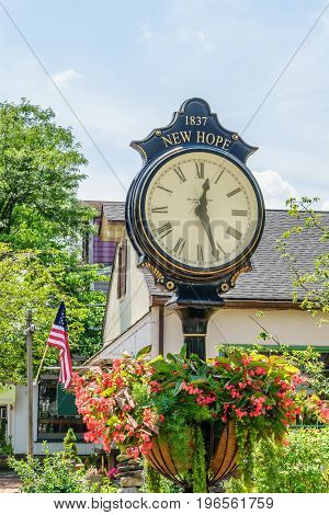 Nice clock in Historic New Hope PA USA