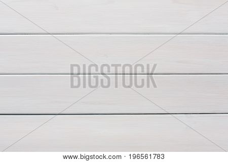 White wooden background copy space. Light colored horizontal planks backdrop