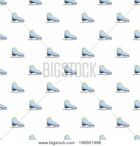 Skates pattern seamless repeat in cartoon style vector illustration