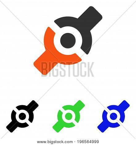 Artificial Joint vector pictograph. Illustration style is a flat iconic colored symbol with different color versions.