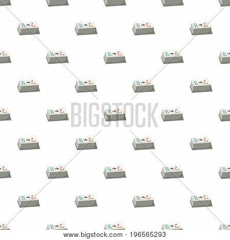 Button for translation pattern seamless repeat in cartoon style vector illustration