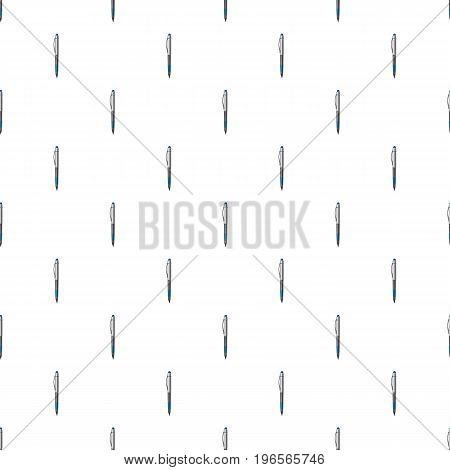 Pen pattern seamless repeat in cartoon style vector illustration