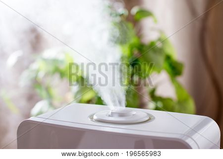 Humidifier in the house in the room