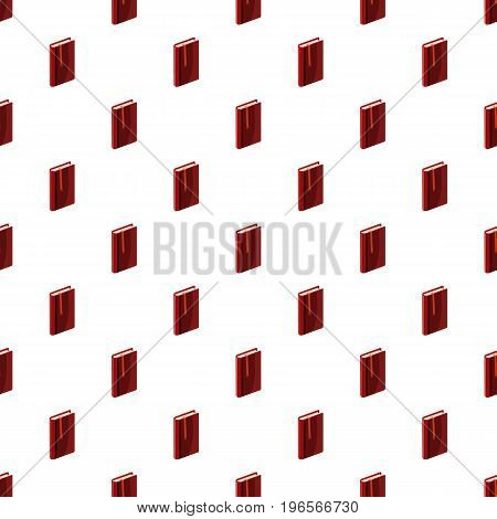 Book with bookmark pattern seamless repeat in cartoon style vector illustration