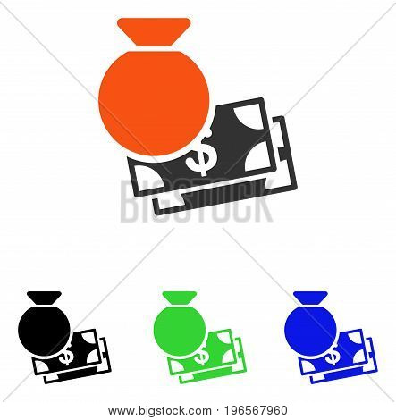 Capital vector pictogram. Illustration style is a flat iconic colored symbol with different color versions.