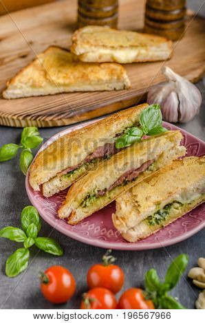 Pesto Cheese Sandwich