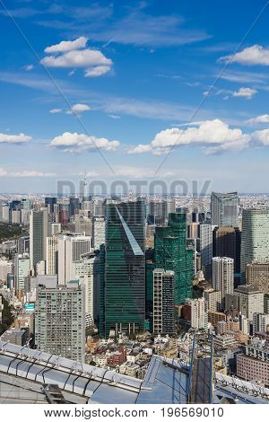 JAPAN TOKYO-FEBRUARY 14 2017: Cyty with skyline in Tokyo Japan.