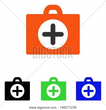 First Aid vector pictograph. Illustration style is a flat iconic colored symbol with different color versions.