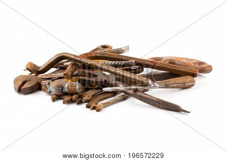 Old Rusty Tools Isolated