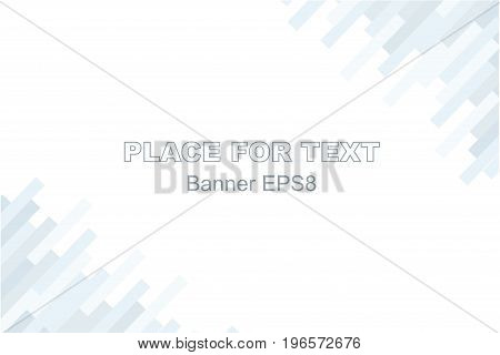 Abstract style background. Vector Illustration banner format