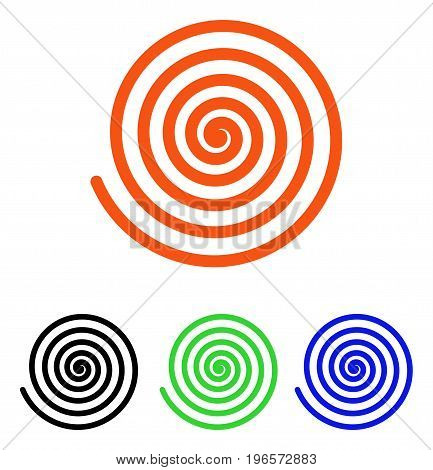 Hypnosis vector pictogram. Illustration style is a flat iconic colored symbol with different color versions.