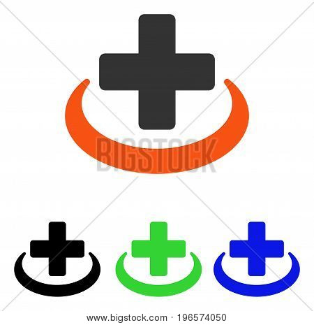 Medical Community vector icon. Illustration style is a flat iconic colored symbol with different color versions.