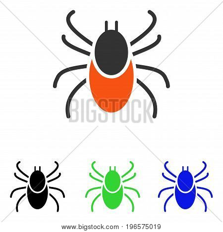 Mite vector pictogram. Illustration style is a flat iconic colored symbol with different color versions.