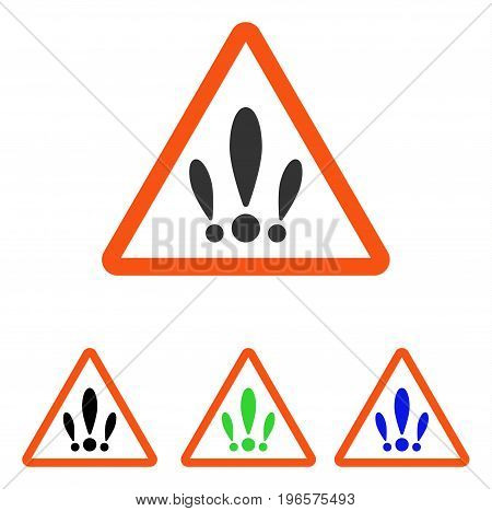 Multiple Problems vector pictograph. Illustration style is a flat iconic colored symbol with different color versions.