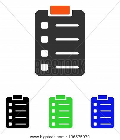 Pad Form vector pictograph. Illustration style is a flat iconic colored symbol with different color versions.