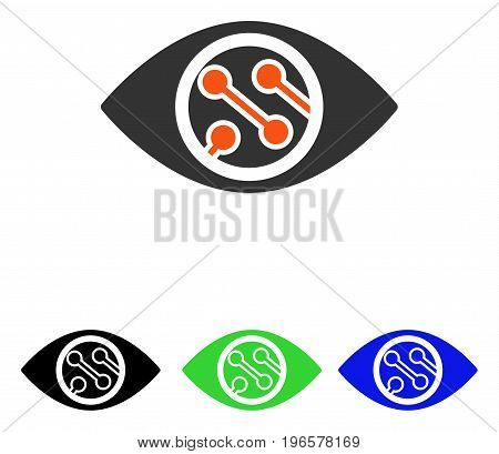 Smart Lens vector icon. Illustration style is a flat iconic colored symbol with different color versions.