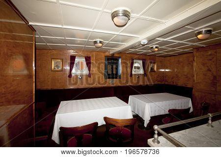 Interior of the icebreaker Tarmo. Kotka Finland 16.07.2017.
