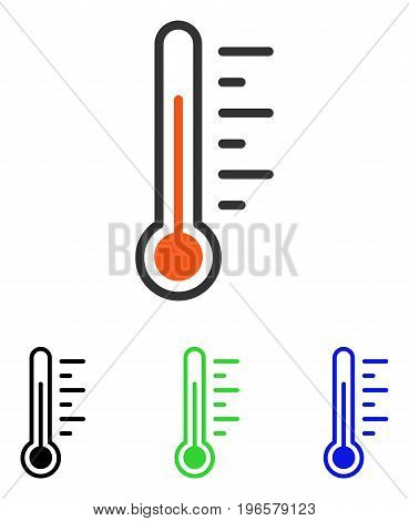 Temperature Level vector icon. Illustration style is a flat iconic colored symbol with different color versions.