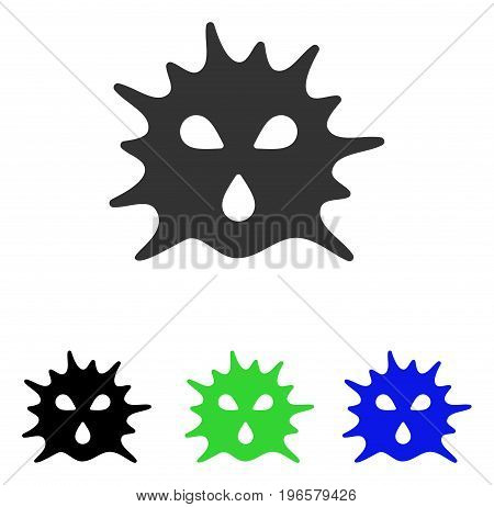 Virus Structure vector icon. Illustration style is a flat iconic colored symbol with different color versions.