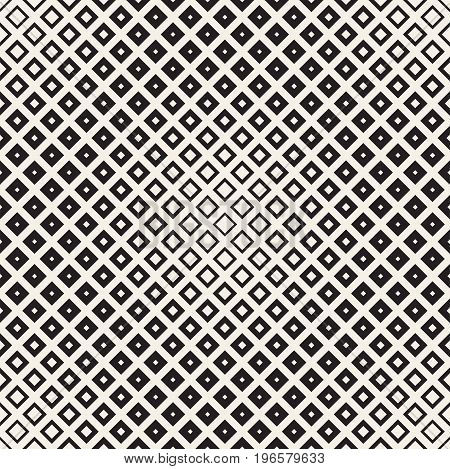 Repeating Geometric Rectangle Tiles. Stylish Monochrome Lattice. Vector Seamless Pattern.