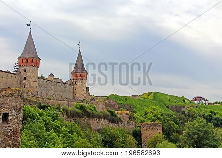 Kamianets-Podilskyi Castle is a former Ruthenian-Lithuanian castle and a later three-part Polish fortress located in the historic city of Kamianets-Podilskyi, Ukraine