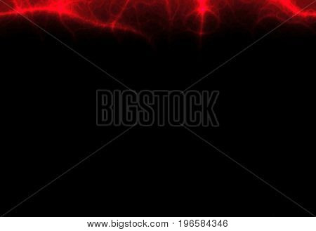 Bright red glowing abstract veins dark black empty background