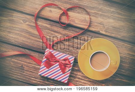 Cup Of Coffee And Bow