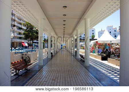 Street. Puerto Banus city, Marbella, Andalusia, Spain. Picture taken - 19 july 2017.