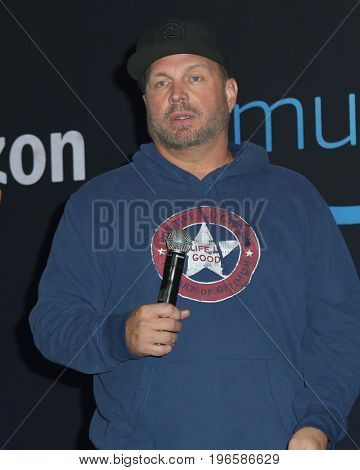 LOS ANGELES - July 21:  Garth Brooks at the Garth Brooks World Tour with Trisha Yearwood Press Conference at the Forum on July 21, 2017 in Inglewood, CA