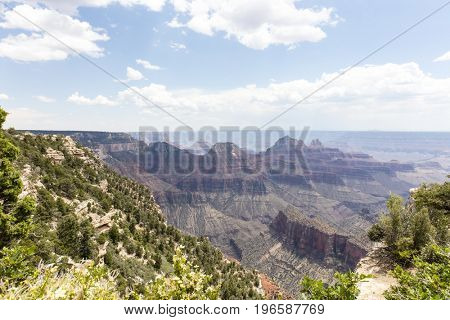 Scenic views of the Grand Canyon from the North Rim