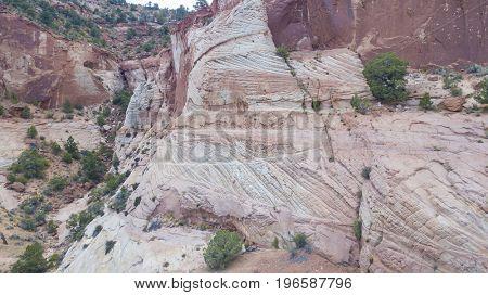 Scenic views of the Utah mountain range near Kanab, Utah