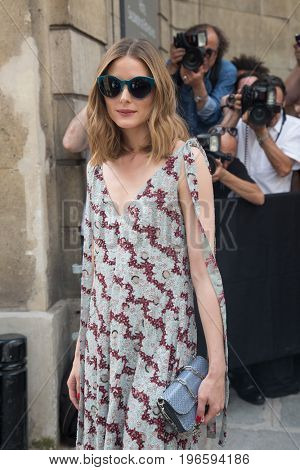 PARIS, FRANCE - JULY 05:  Olivia Palermo attends the Valentino Haute Couture Fall/Winter 2017-2018 show as part of Paris Fashion Week July 5, 2017  Paris, France