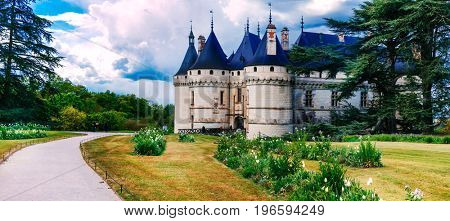 Most beautiful castles of France series - Chaumont-sur-Loire, famous Loire valley