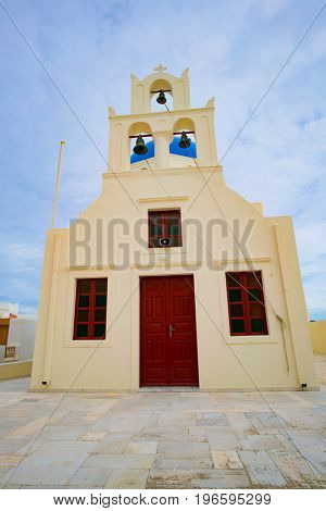 Church in town Oia. Santorini Greece