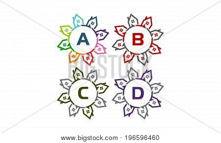 This image describe about Real Estate Star Solution Initial A B C D